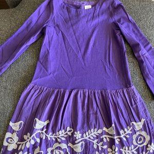 Purple Mini Boden Dress w/ Scandinavian embroidery